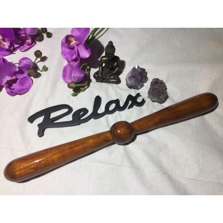 Instrument / Stick / Roller Lemn (40 cm x 4 cm) THAI MASSAGE - MaderoTerapie -  Masaj anticelulitic, Relaxare, Terapie + CADOU