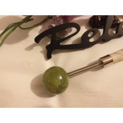 Ciocanel din JAD (23 cm) cu piatra JAD rotunda (4 cm) Masaj / Dureri / Relaxare + CADOU