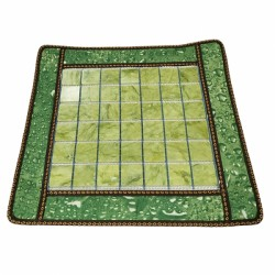 Covoras cu 40 pietre XL (5 cm) din JAD pentru masa / pat masaj sau scaun + Saculet Cristale CADOU