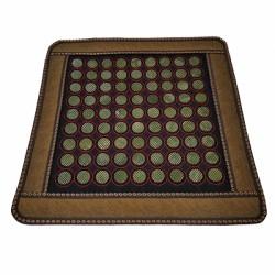 Covoras cu 80 pietre mari din JAD pentru masa / pat masaj sau scaun + Saculet Cristale CADOU