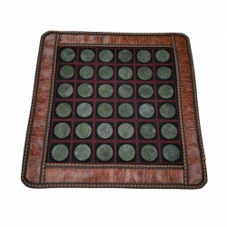 Covoras cu 36 pietre XL (5 cm) rotunde din JAD pentru masa / pat masaj sau scaun + Saculet Cristale CADOU