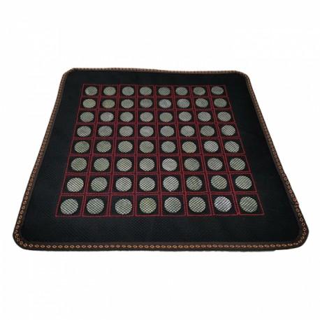 Covoras cu 64 pietre mari din JAD pentru masa / pat masaj sau scaun + Saculet Cristale CADOU