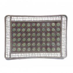 Covoras cu 60 pietre mari din JAD pentru masa / pat masaj sau scaun + Saculet Cristale CADOU