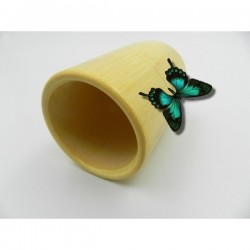Ventuza / Cupa (6,5 cm x 10 cm) din Bambus pentru Masaj (Accesoriu traditional si natural pentru Masaj) + Cristal CADOU