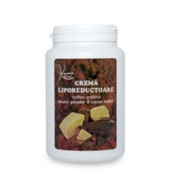 CREMA LIPOREDUCATOARE cu CAFEA (100% BIO) , Pudra de fasole si UNT de SHEA - 1000 ml + CADOU