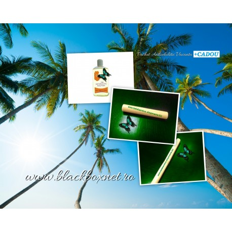 Pregateste-te de Vacanta ! Pachet Masaj Anticelulitic : Bat Bambus 60 cm + Bat Bambus 20 cm + Ulei Anticelulitic
