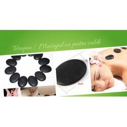 Piatra vulcanica (3 cm x 4 cm) Terapie / Masaj cu Pietre Calde (Hot Stone Massage) + CADOU