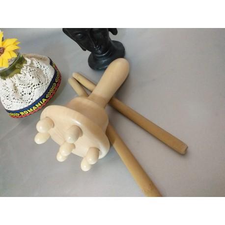 Pachet Maderoterapie 3 piese (Ciuperca + 2 x Bat Bambus) pentru orice tip de masaj