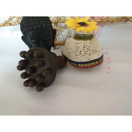 Instrument ciuperca (CHAMPINON) LUX din lemn pentru Maderoterapie / Anticelulitic / Drenaj / Relaxare + Cadou