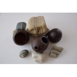 SET 2 NUCI COCOS pentru MASAJ - produse handmade + CADOU Ulei COCOS