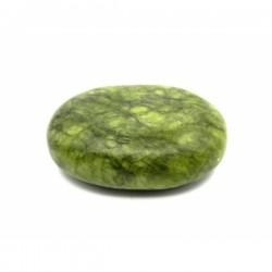 PIATRA (9 cm x 7 cm) din JAD verde pentru Masaj + CADOU