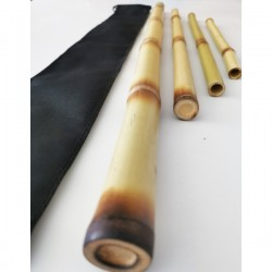 Set 4 Bete Bambus pentru Masaj 70 cm, 5 cm, 40 cm si 30 cm - diametru 1 cm - 3 cm + CADOU