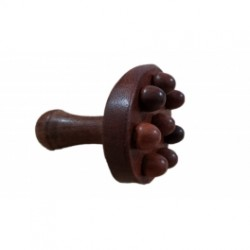 Instrument ciuperca (CHAMPINON) MINI din santal pentru Maderoterapie / Anticelulitic / Drenaj / Relaxare + Cadou