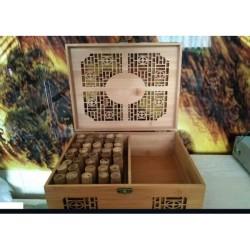 Set/Kit 40 Ventuze / Cupe din BAMBUS + Cutie Lemn + CADOU