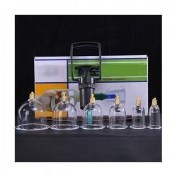 Set / Kit 6 ventuze terapeutice din plastic dur + Pistol pompa + CADOU