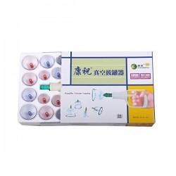 Set / Kit 32 ventuze terapeutice magnetice din plastic dur + Pistol aspiratie + CADOU