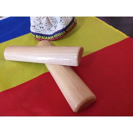 Set Profesional 2 Bete Half Stick finisate pentru Masaj, 20 cm (diametru 2 cm - 4 cm) + CADOU