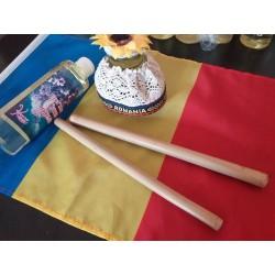 Set Profesional 2 Bete Bambus (20 cm + 20 cm) pentru Masajul Facial + Ulei Natural de Relaxare 250 ml