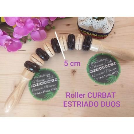 Roller CURBAT MADERO ESTRIADO DUOS (5 cm diametru) + CADOU