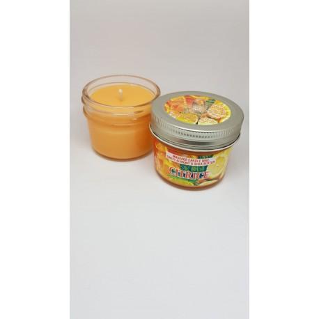Lumanare pentru MASAJ 100% Naturală cu Ulei de Migdale si Unt de Shea (Citrice) 100g + CADOU