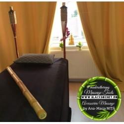 Băț Bambus XL (100 cm x 5 cm) pentru Masajul terapeutic si drenaj + CADOU