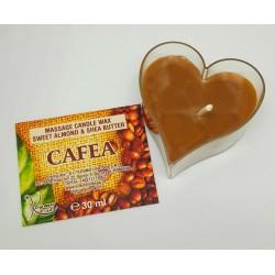 Lumanare pentru MASAJ 100% Naturală cu Ulei de Migdale si Unt de Shea (Cafea) 30g + CADOU