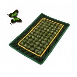 Covoras cu 65 pietre rotunde din JAD si plasa protectie pentru masa / pat masaj sau scaun + Cristal CADOU