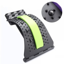 Dispozitiv Back Relax, reglabil pentru indreptarea coloanei, strech lombar, cu magneti - VERDE + Cadou