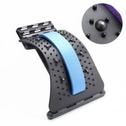 Dispozitiv Back Relax, reglabil pentru indreptarea coloanei, strech lombar, cu magneti - ALBASTRU + Cadou