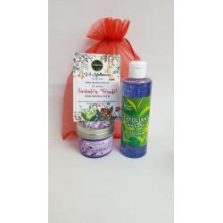 Exfoliant Facial cu ceai Verde 250 ml + Lumanare pentru Masaj Lavanda + CADOU