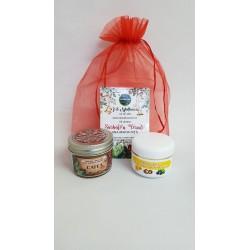 Crema Galbenele + Lumanare pentru Masaj 100 gr Cafea + CADOU