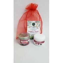 Crema Antirid cu Catina + Lumanare pentru Masaj 100 gr Trandafir + Saculet + CADOU