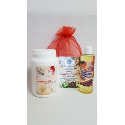 Crema Anticelulitica cu Scortisoara 1000 ml + Ulei Anticelulitic cu Scortisoara si Portocala 250 ml + Saculet + CADOU