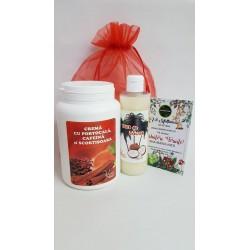 Crema Anticelulitica cu Portocala, Cafeina si Scortisoara 1000 ml + Ulei de Cocos 250 ml + Saculet + CADOU