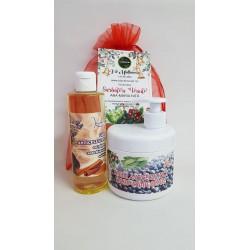 Crema Anticelulitica Termo-Reducatoare 500 ml + Ulei Balsamic cu Piper, Scortisoara si Salvie 250 ml + Saculet + CADOU