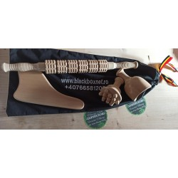Pachet complet MaderoTerapie (Roller + Cupa Sueca + Paleta Modelatoare + Ciuperca Champinon) + Geanta/husa