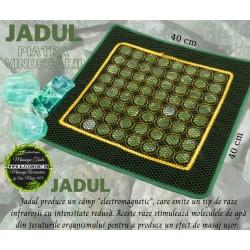 Covoras cu 64 pietre mari din JAD pentru masa / pat masaj sau scaun + CADOU