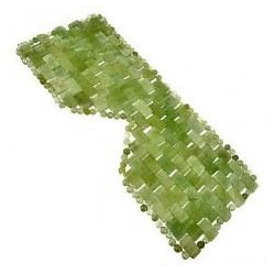 MASCA FACIALA cu 112 pietre din JAD (Frumusete, Relaxare si Regenerare pentru TOATE tipurile de TEN) 30 cm x 12 cm + Cristal