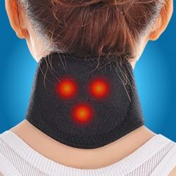 Centura Cervicala Terapeutica (30 cm x 10 cm) cu Turmalina si 3 Magneti pentru ameliorarea durerilor + Cristal CADOU