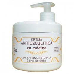 Crema Anticelulitica cu 100% Cafeina Naturala si Unt de Shea - 500 ml + Cristal CADOU