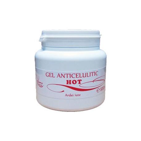 Gelul Anticelulitic HOT 500 ml cu Ardei iute cu efect termic de incalzire + Cristal
