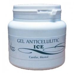 Gel Anticelulitic ICE Camfor si Menta cu efect de racire pentru vase capilare dilatate - 500 ml + Cristal CADOU
