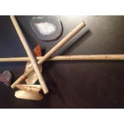 Bat Bambus Profesional 25 cm sau 50 cm pentru Masaj Facial sau Anticelulitic + CADOU Cristal CHAKRA