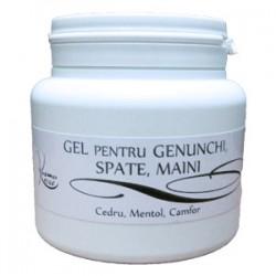 Gel Intens pentru Dureri / Antireumatic (Genunchi, Spate, Maini) cu Cedru, Mentol si Camfor - 500 ml + Cristal