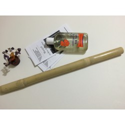 Oferta de Vara: Bat Bambus (50 cm, 3 cm diametru) + Ulei Anticelulitic Cocktail Natural 250 ml cu Piper Negru si Portocala