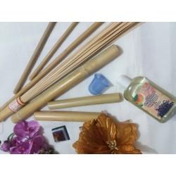 Pachet Complet 9 piese pentru Masajul Anticelulitic cu Bambus, Slabire, Tonifiere, Bamboo Therapy + Cristal CADOU