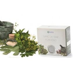 SARE de BAIE (5 kg) 100% Naturala din Praid cu Plante Medicinale (Musetel, Galbenele, Sunatoare) la Cutie 5 Kg + Cristal CADOU