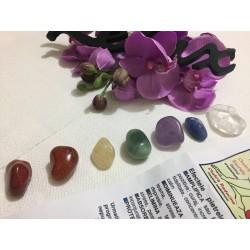 SET 7 Cristale CHAKRE / Pietre semipretioase - Masaj, Terapie, Armonie, Protectie si Sanatate + OU JAD Galben